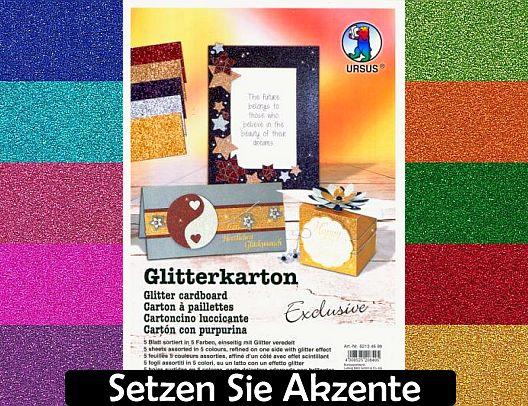 URSUS Glitterkarton